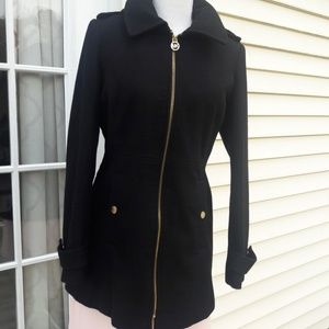 Black Wool Micheal Kors Jacket
